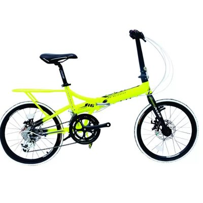 xds yellow folding bike
